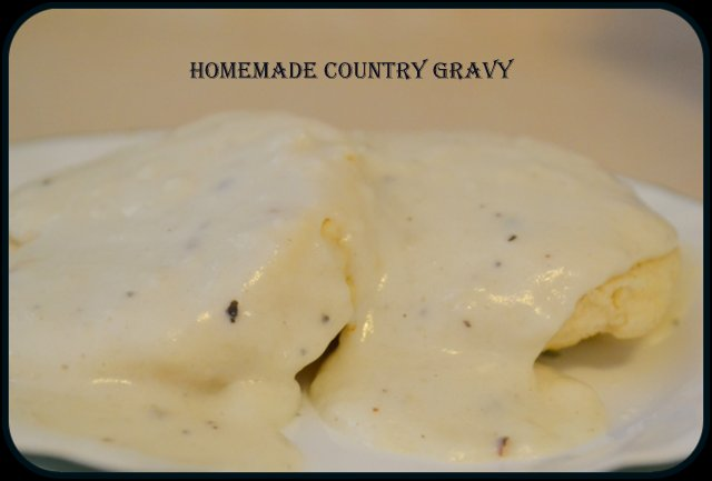 homemade country gravy