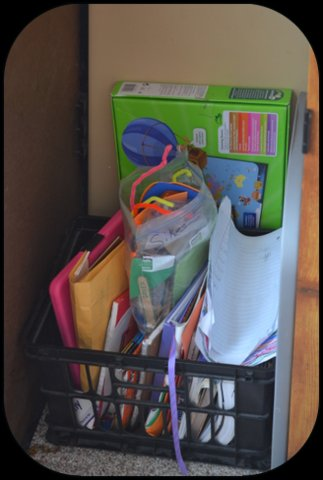 """The """"littles"""" crate. Books, activities, manipulatives, and more for early learning."""